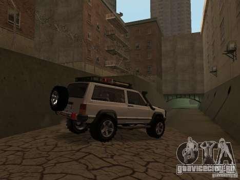 Jeep Cherokee Sport для GTA San Andreas вид сзади