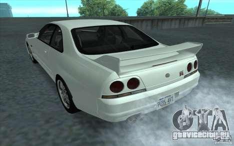 Nissan Skyline GT-R R-33 для GTA San Andreas вид слева