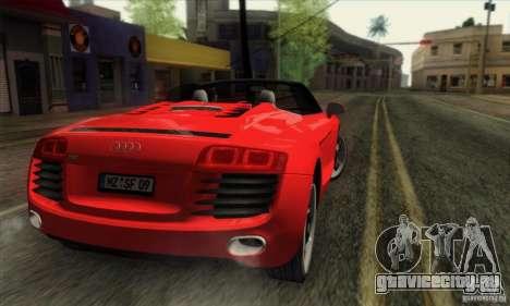 Audi R8 Spyder Tunable для GTA San Andreas вид слева