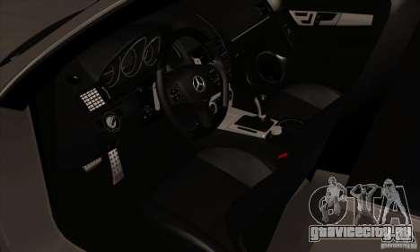 Mercedes-Benz C63 Dub для GTA San Andreas вид сзади