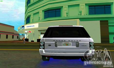 Land Rover Range Rover Supercharged 2008 для GTA Vice City вид справа