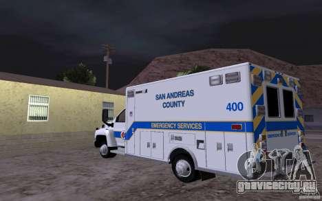 Chevrolet C4500 Ambulance для GTA San Andreas вид сзади слева