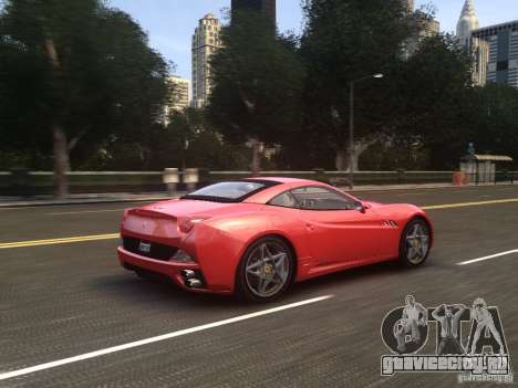 Ferrari California 2009 для GTA 4 вид сверху