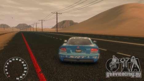 Dodge Viper SRT-10 Mopar Drift для GTA 4 вид сзади слева