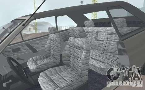 ВАЗ 2108 Наташа для GTA San Andreas вид сзади