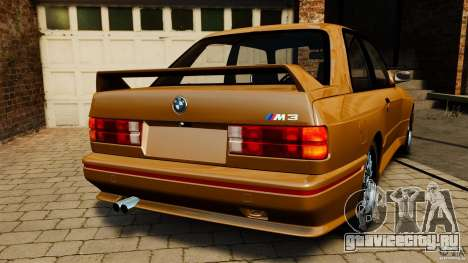 BMW M3 E30 Stock 1991 для GTA 4 вид сзади слева