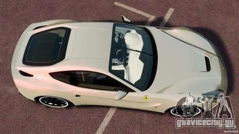 Ferrari F12 Berlinetta DCM для GTA 4 вид справа