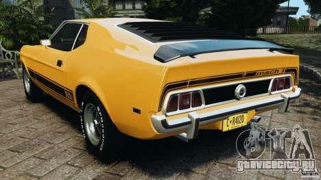 Ford Mustang Mach 1 1973 v2 для GTA 4 вид сзади слева