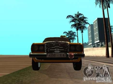 Mercedes-Benz 240D Taxi для GTA San Andreas вид сзади