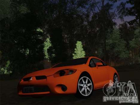 Mitsubishi Eclipse GT V6 для GTA San Andreas вид снизу
