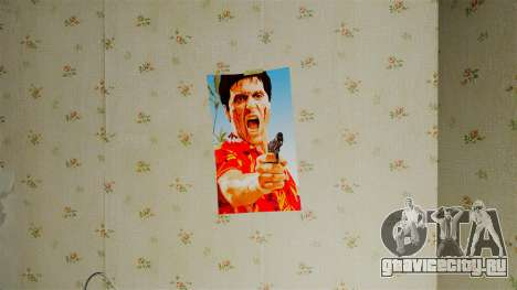 Новые плакаты во второй квартире для GTA 4 шестой скриншот