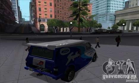 Ford Transit Supervan 3 2004 для GTA San Andreas вид справа