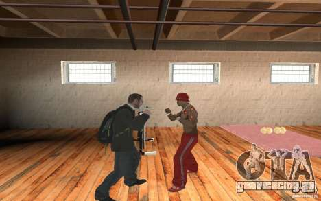 The combat system from GTA IV для GTA San Andreas второй скриншот