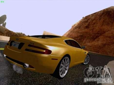 Aston Martin DB9 для GTA San Andreas вид изнутри
