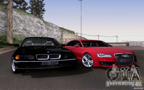 BMW 730i E38 для GTA San Andreas вид сбоку