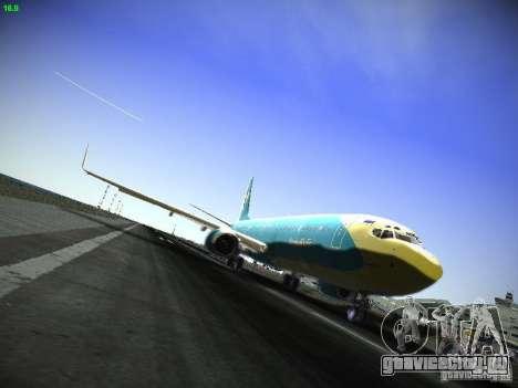 Boeing 737-84R AeroSvit Ukrainian Airlines для GTA San Andreas вид слева