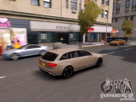 Audi RS4 Avant 2013 для GTA 4 вид изнутри