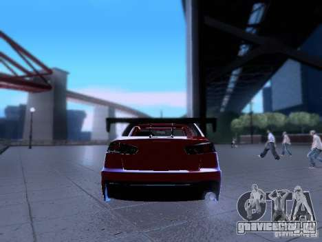 Mitsubishi Lancer Evolution X v2 Make Stance для GTA San Andreas вид изнутри