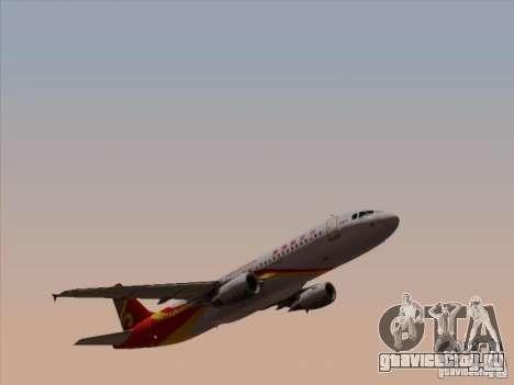 Airbus A320-214 Hong Kong Airlines для GTA San Andreas вид изнутри