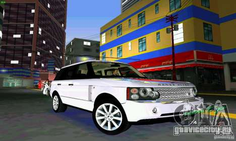 Land Rover Range Rover Supercharged 2008 для GTA Vice City вид изнутри