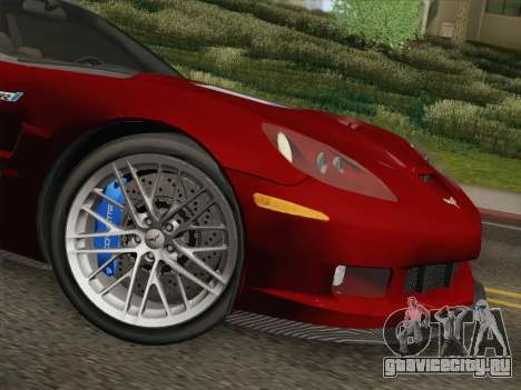 Chevrolet Corvette ZR1 для GTA San Andreas вид снизу