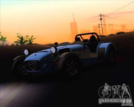 Caterham Superlight R500 для GTA San Andreas вид изнутри