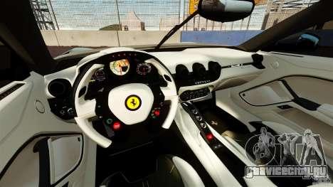 Ferrari F12 Berlinetta DCM для GTA 4 вид сзади