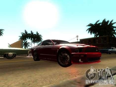 Ford Shelby GT 2008 для GTA San Andreas вид сзади слева