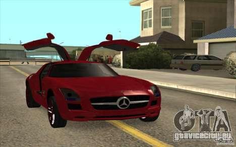 Mercedes-Benz SLS AMG 2010 для GTA San Andreas вид сзади слева