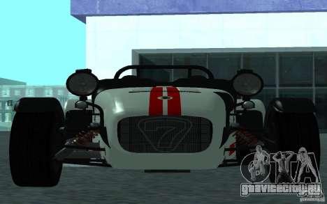 Caterham R500 для GTA San Andreas вид слева