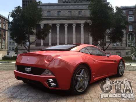 Ferrari California 2009 для GTA 4 вид слева
