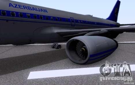 Airbus A-319 Azerbaijan Airlines для GTA San Andreas вид сзади