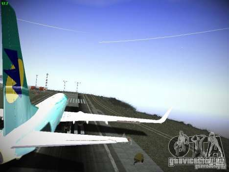 Boeing 737-84R AeroSvit Ukrainian Airlines для GTA San Andreas вид изнутри