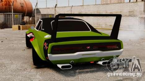 Dodge Charger RT SharkWide для GTA 4 вид сзади слева