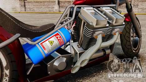 Dragbike Street Racer для GTA 4 вид сзади