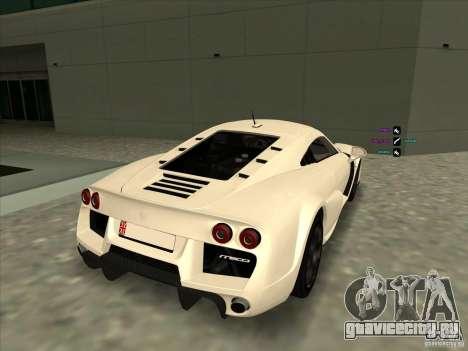Noble M600 для GTA San Andreas вид сзади слева
