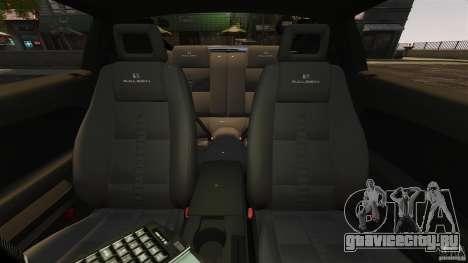 Saleen S281 Extreme Unmarked Police v1.5 для GTA 4 вид изнутри