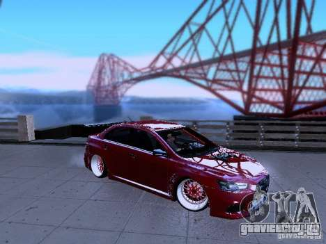 Mitsubishi Lancer Evolution X v2 Make Stance для GTA San Andreas вид слева