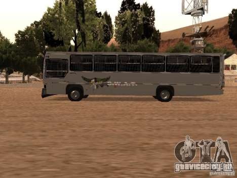 Mercedes Benz SWAT Bus для GTA San Andreas вид слева