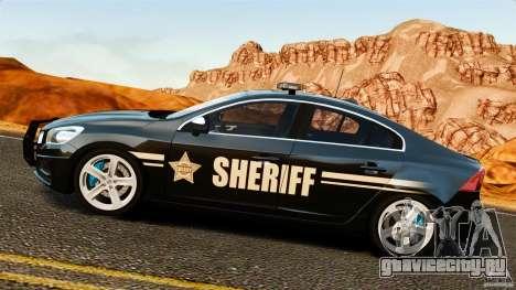 Volvo S60 Sheriff для GTA 4 вид слева