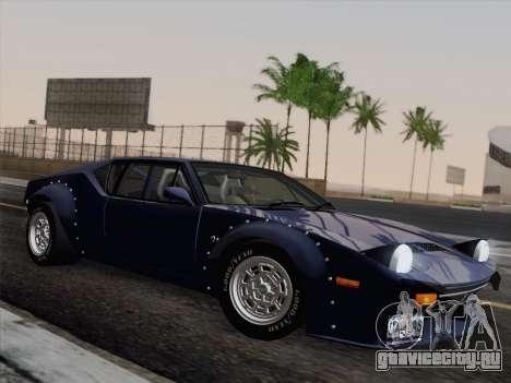 De Tomaso Pantera GT4 для GTA San Andreas вид сзади