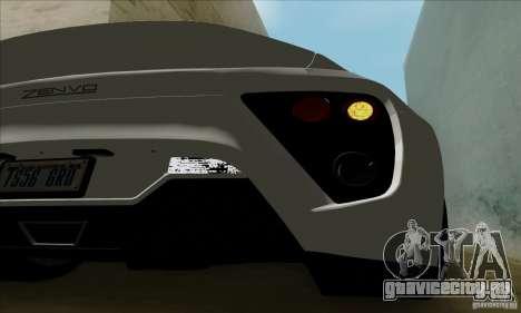 Zenvo ST1 2010 для GTA San Andreas вид справа