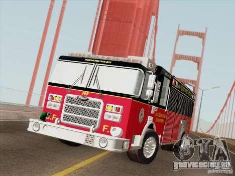 Pierce SFFD Rescue для GTA San Andreas вид сбоку