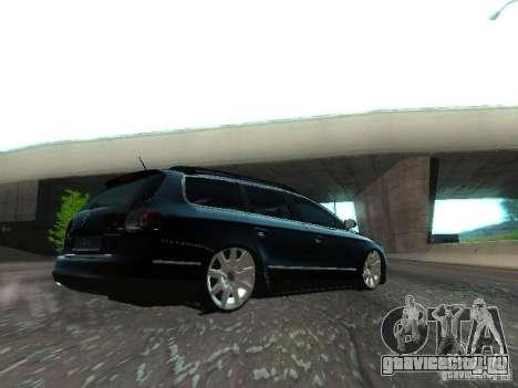 Volkswagen Passat B6 Variant Com Bentley 20 Fixa для GTA San Andreas вид сзади