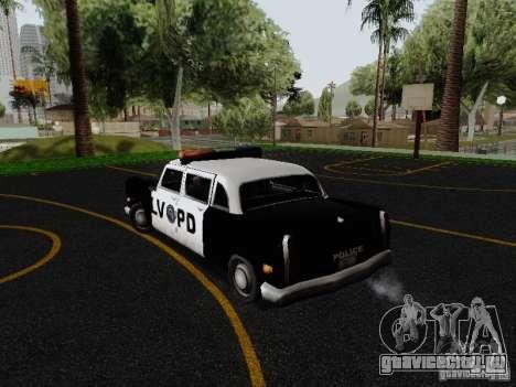 Cabbie Police LV для GTA San Andreas вид сзади слева