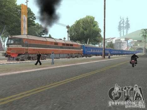 Плацкартный вагон УЖД для GTA San Andreas вид изнутри