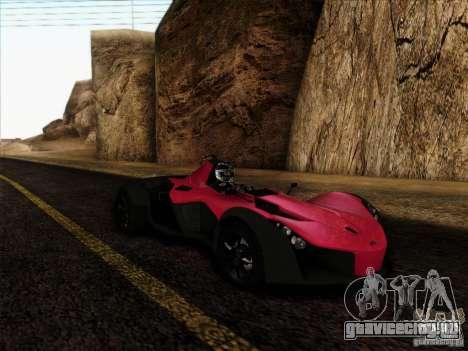 BAC MONO для GTA San Andreas вид сзади слева