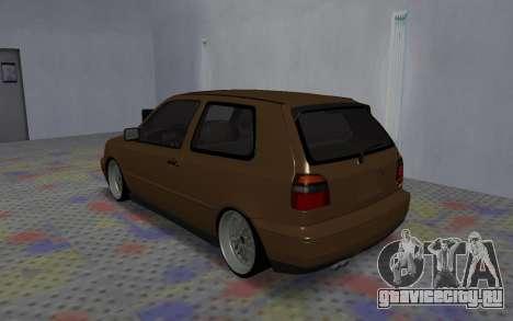 Volkswagen Golf Mk3 для GTA San Andreas вид справа