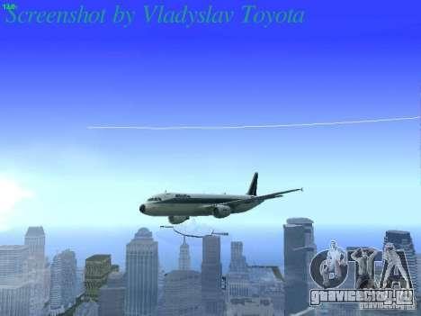 Airbus A320-214 Alitalia v.1.0 для GTA San Andreas вид сверху