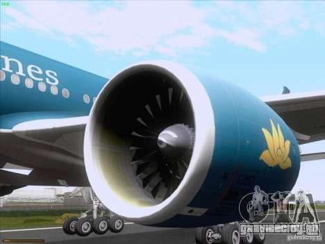 Boeing 777-2Q8ER Vietnam Airlines для GTA San Andreas вид сзади слева